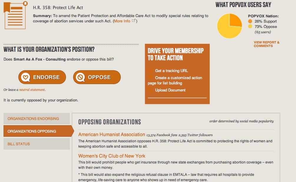 POPVOX: The Newest Platform for eAdvocacy - Smart As A Fox